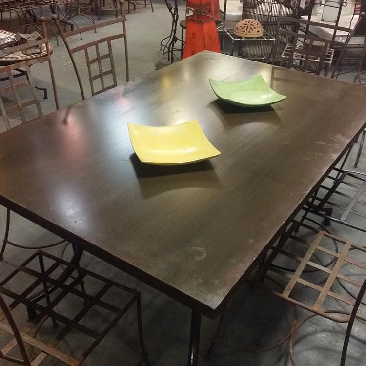 TABLE METAL RECTANGLE 160X100