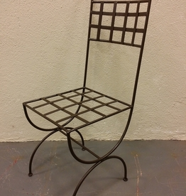 Chaise fer plat